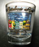 Rainbow Row Shot Glass Charleston South Carolina Clear Glass Colorful Bu... - $6.99