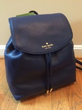 NWT Kate Spade small Breezy Mulberry street Leather Backpack Oceanic Blue - $126.72