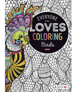 NEW 40-Page Everyone Loves Coloring Book: Birds - Advanced Intricate Adult - $4.99