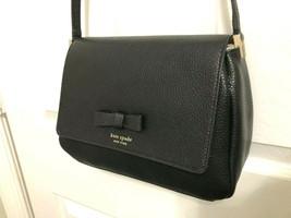 Kate Spade Pershing Street Avva Pebbled Leather Crossbody Bag $259.00 Bl... - $89.09