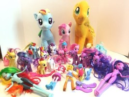 My Little Pony Lot of 30 Figures Stuffed Plush Equestrian Dolls & Access... - $35.17