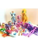 My Little Pony Lot of 30 Figures Stuffed Plush Equestrian Dolls & Access... - $35.17