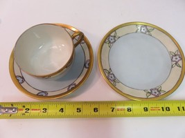 RARE Bernardaud Limoges Cup Saucer and Side Plate Art Deco 1910s - $115.51
