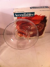 """VINTAGE CLEAR GLASS  11"""" CHIP & DIP--ACCENTABLES--BIANCA SERIES--FREE SH... - ₹1,875.72 INR"""