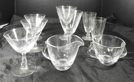 9 Piece Fostoria Crystal Lot * Pine Pattern - $26.59