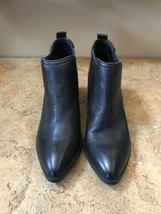 Fergie Women's Black Leather Ankle Boots, 8 - $99.99
