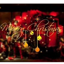 Large Merry Christmas Window Sticker Graphic Xmas Decoration Shop Fascia... - $7.95