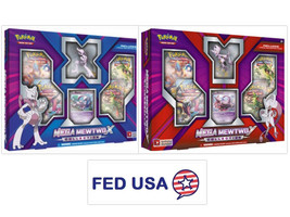 Mega Mewtwo X & Mega Mewtwo Y Collection Figure Booster Boxes Packs POKE... - $59.99