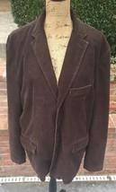 J Crew mens blazer XL Vintage Cord Dark Brown Three Button  - $37.40