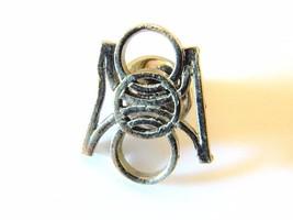 Vtg Men's Geometric Tie Tack Pin Retro Tie Formal Wear Accessories Silve... - $7.69