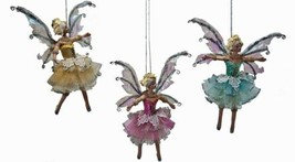 Katherine's Collection  fairy ballerina Ornament 28-530479 Set Of 3 - $89.99