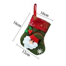 Christmas Stocking Socks Santa Claus/Reindeer Candy Gift Bag Xmas For Pa... - $5.97