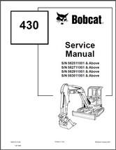 Bobcat 430 Compact Excavator Service Repair Manual on a CD - $12.00