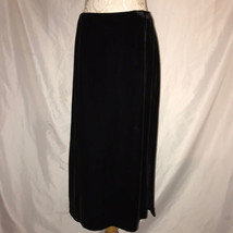 Black Velvet Womens sz 16W Straight Skirt Jones New York Country Rayon S... - $84.15