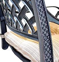 Patio bar stools Set of 4 Outdoor Furniture Nassau Swivel Cast Aluminum Bronze image 4