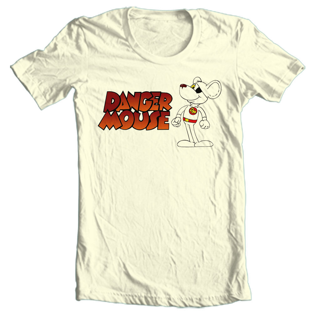 Danger Mouse T-shirt Free Shipping cartoon retro 1980's vintage 100% cotton tee