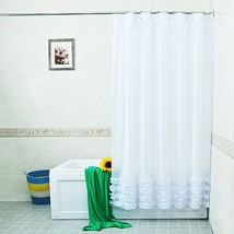 New Home Decoration Bathroom Shower Curtain Waterproof Moldproof Solid Polyester - $29.99