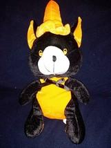 Halloween Bear Plush Black and Orange Wearing Halloween Hat 14.5'' in - $32.67
