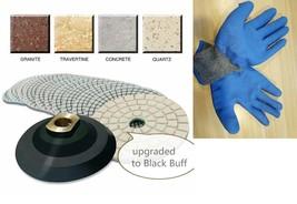 "5"" Diamond Polishing Pad Buffer 12+1 stone concrete shock resistant work... - $49.49"