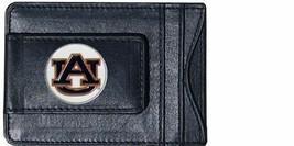 auburn tigers logo ncaa college emblem leather cash & cardholder usa made - $27.07