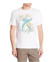NEW MENS G.H.BASS & CO CREW NECK THE BIG GAME MARLIN WHITE T SHIRT TEE XL - $9.99