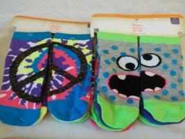 Faded Glory Girls Socks No Show Size Medium 7.5-3.5 ~ 12 Pairs Peace Mon... - $10.88