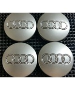 4 Pcs of  Wheel Center Hubcap Audi Gray 60MM Chrome Logo. - $17.81
