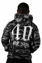 40 Oz New York NY 40 Bones Black Pullover Hoodie Hooded Sweater NWT