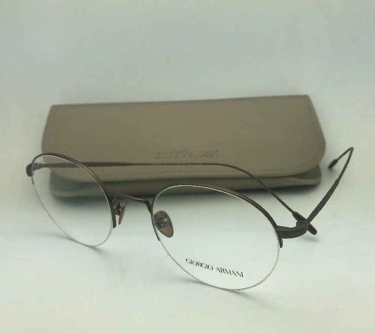 fdb38efef553 S l1600. S l1600. Previous. New GIORGIO ARMANI Eyeglasses AR 5079 3006  50-21 Round Semi Rimless Brown Frames