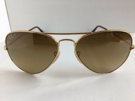 Polarized Ray-Ban RB 3025 001/M2 58mm Aviator Large Metal Gold Sunglasses  - $79.99