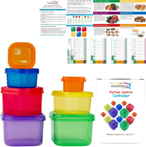 Portion Control Container Kit For Weight Loss Set No More Weighing Food ... - $13.27