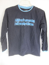 Boys Top Heavy Dark Blue Graphic Long Sleeve T-Shirt Size M - $6.79