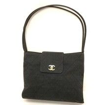 AUTHENTIC CHANEL Quilted Tote Bag Shoulder Bag gray Canvas - $600.00