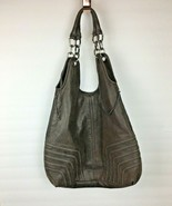 BCBG MAXAZRIA Women's Brown Tote 100% Leather Shoulder Bag Purse - $49.99