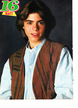 Matthew Lawrence teen magazine pinup clipping jean shirt confused Tiger Beat 90