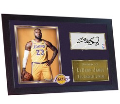 new LeBron James Los Angeles Lakers signed autograph LEBRON JAMES photo ... - $20.81