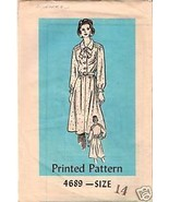 Printed Pattern 4689 Misses ' Blouse & Skirt Size 14 - $2.00