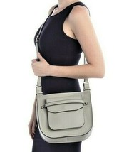 Steve Madden Saddle Faux Leather Crossbody Bag Bisque Gray New w/Tags - $39.60