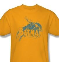 Batman T-shirt distressed retro superhero DC comics gold 100% cotton tee BM1959 image 2