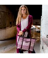 Kayla market tote shoulder travel school college bag - $65.33