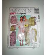 Family Pajama Pant Short Sleepshirt Top Pattern Uncut McCall's 3452 Miss... - $6.92
