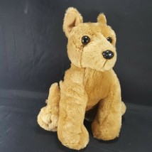 "Anico Puppy Dog Black Brown Terrier 9"" Plush Stuffed Animal Toy 9"" Soft - $12.86"