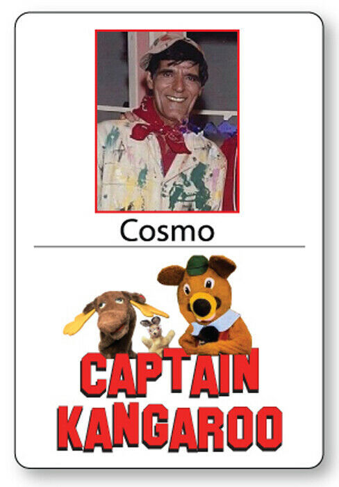 COSMO KIDS SHOW CAPTAIN KANGAROO NAME BADGE TAG HALLOWEEN COSPLAY MAGNET BACK