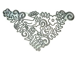 Love Bird with Flowers and Vines Die image 1