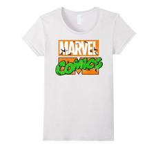 Marvel Comics Haunted Retro Logo Bats & Spiders T-Shirt Women - $19.95+