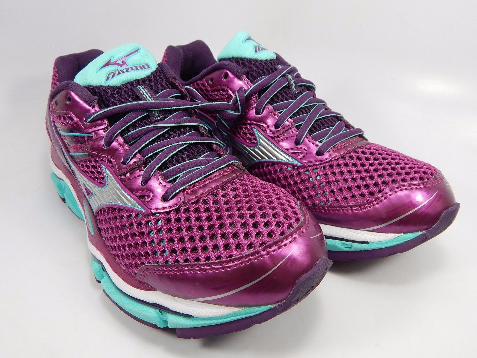 Mizuno Wave Enigma 5 Women's Running Shoes Size US 7 M (B) EU 37 Purple Green