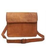New Unisex Laptop Genuine Shoulder Cross Rustic Soft Leather Body Messen... - $58.91