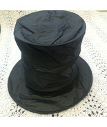 Tall Collapsible SNOWMAN BLACK MAGIC TOP HAT Cosplay Magician Costume Ph... - $9.77