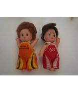 Vintage Soda Pop Playmates Dolls Dollies Mini Mollie Orange & Dolly Cola... - $16.00