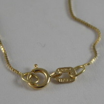 18K YELLOW GOLD CHAIN NECKLACE 0.5 mm MINI VENETIAN LINK 17.71 IN. MADE IN ITALY image 2